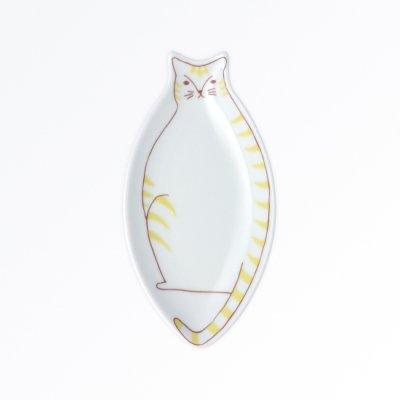 小ネコ皿[黄]