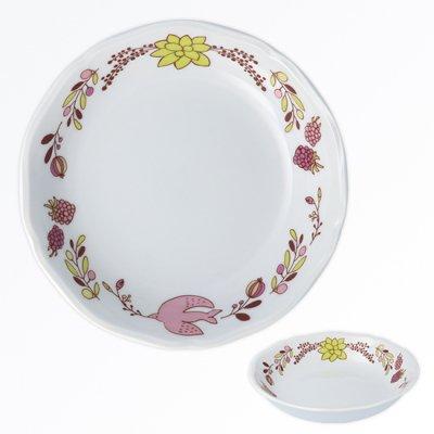 木の実とトリ ボウル[ピンク]