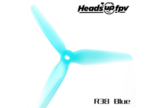 HQProp プロペラ5.1×3.8×3 HeadsUp Racing Prop R38 Blue(4個入り)
