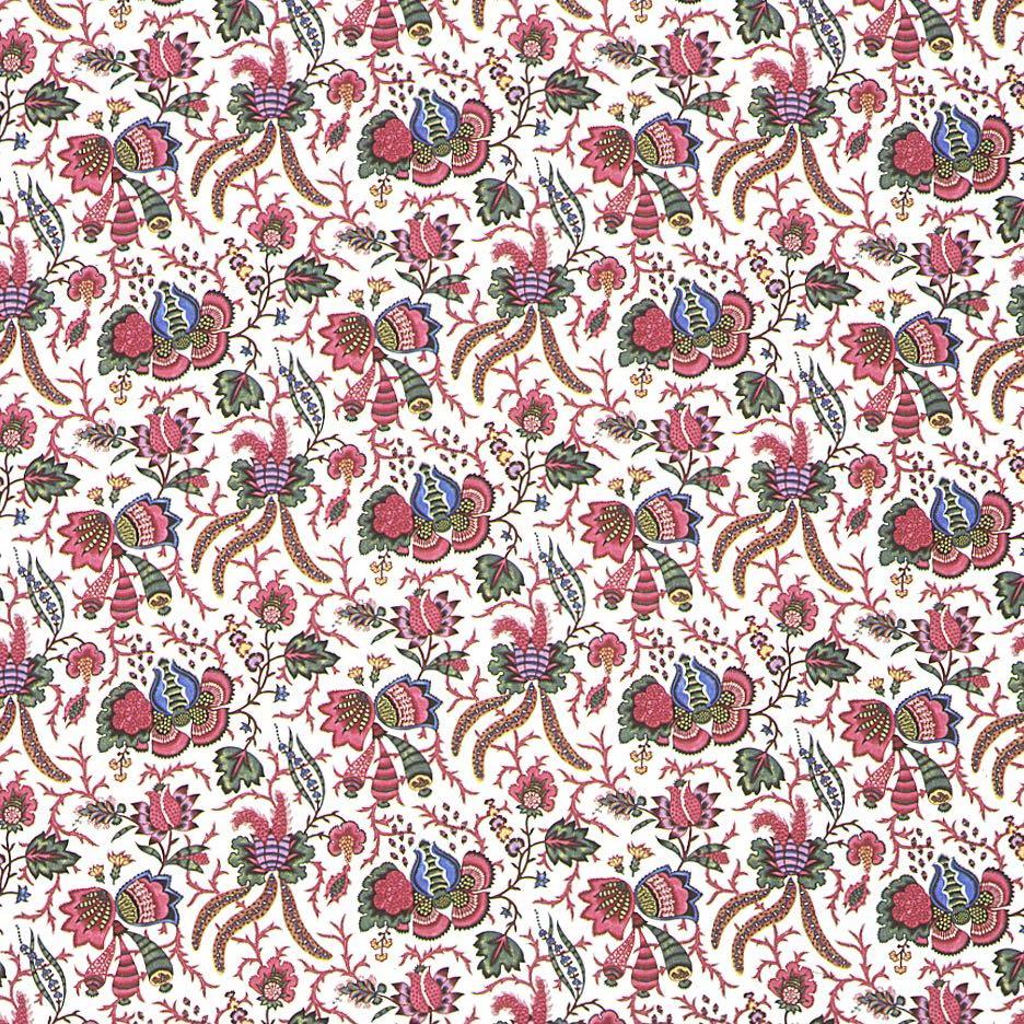 フランス生地 コットン100% フラワープリント 《ペルシャの花》 マルチ