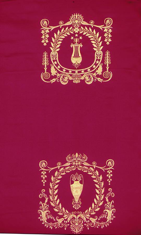 フランス生地 ジャカード織り フランス第一帝政 《マッセナ》 レッド