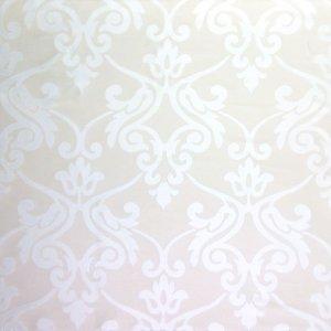 フランス生地 シルクコットン ダマスクジャカード 《ルカ》 ホワイト