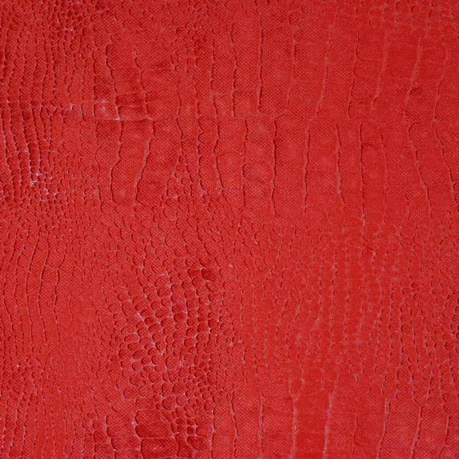 Edmond Petit (エドモン・プティ) インテリアファブリック アニマルベルベット防炎 アマゾン レッド - 15576-9
