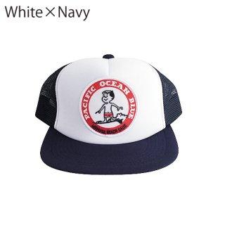 赤マル ワッペンキャップ (White×Navy)