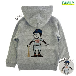 Kid's P.O.B. BASEBALL CLUB ZIPパーカー