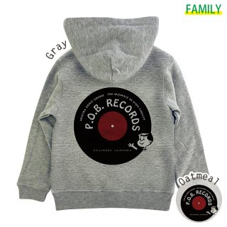 Kid's P.O.B. RECORDS ZIPパーカー