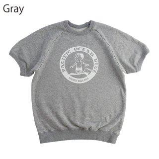 丸デニス 半袖スウェット (Navy,Gray)