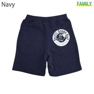 Kid's New Circle Logo ハーフパンツ (Navy, Gray)