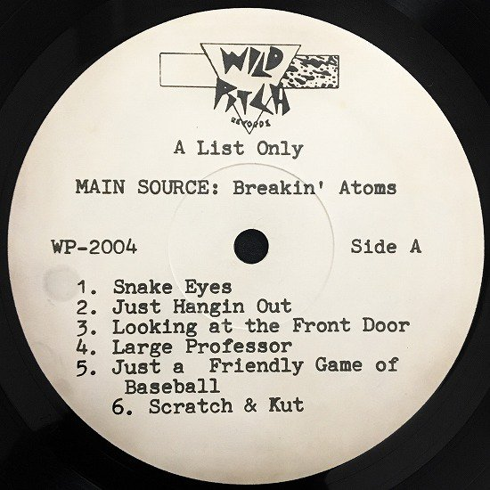 MAIN SOURCE / Breakin' Atoms (original pressing)