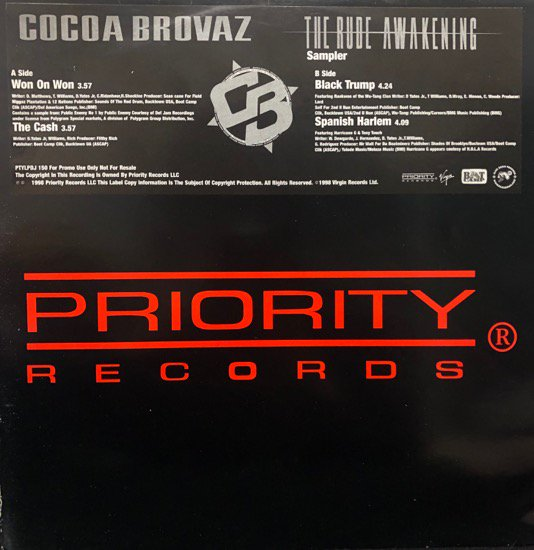 Cocoa Brovaz / The Rude Awakening (Promo Only Rare Pressing Album Sampler )