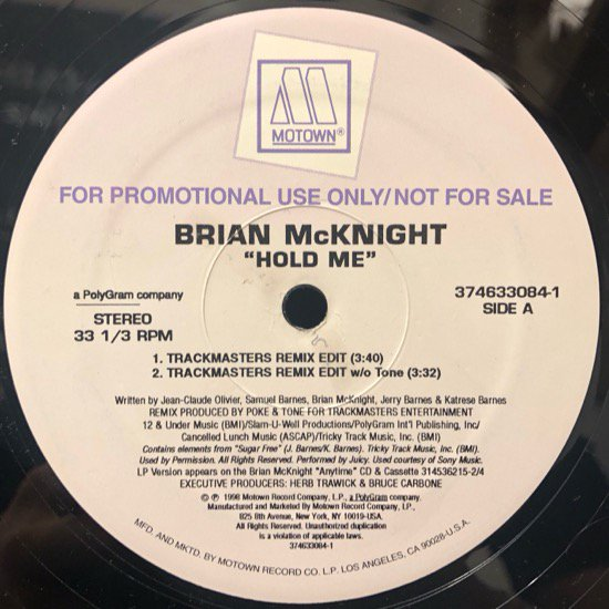 Brian McKnight / Hold Me (promo)