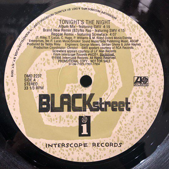 Blackstreet / Tonight's The Night (promo)