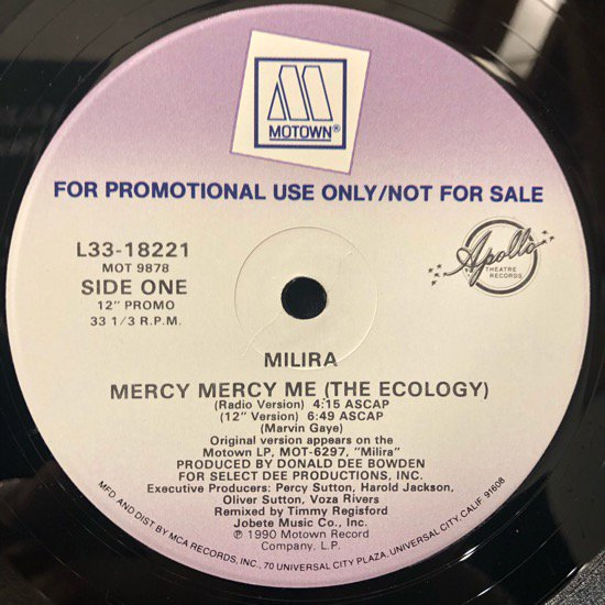 Milira / Mercy Mercy Me (The Ecology)(promo)