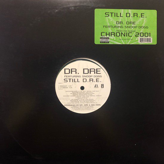 Dr. Dre Featuring Snoop Dogg / Still D.R.E. ( Promo Only Clear Vinyl)