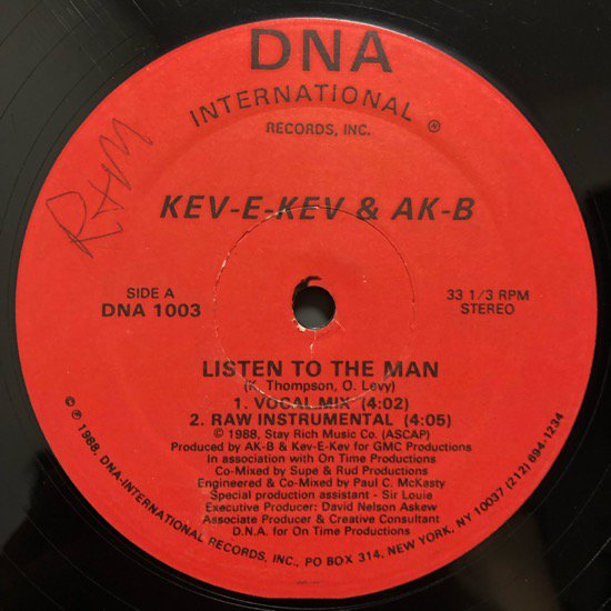 Kev-E-Kev & AK-B / Listen To The Man