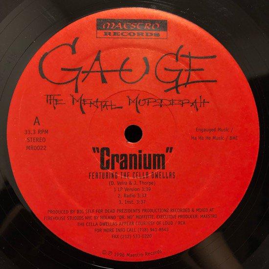 Gauge The Mental Murderah / Cranium