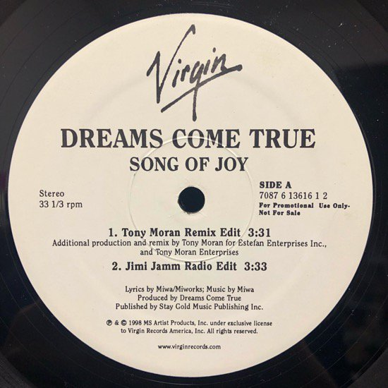 Dreams Come True / Song Of Joy (promo)