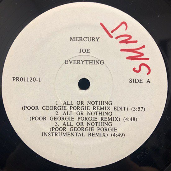 Joe / All Or Nothing ( The Poor Georgie Porgie Remixes)