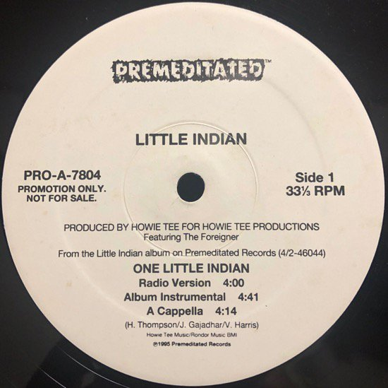 Little Indian / One Little Indian (promo)