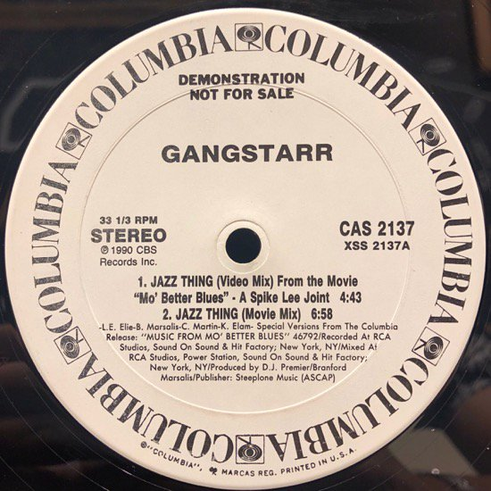 Gangstarr / Jazz Thing (us org promo)