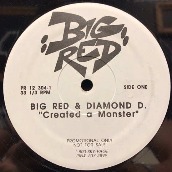 Big Red & Diamond D / Created A Monster (us org promo)