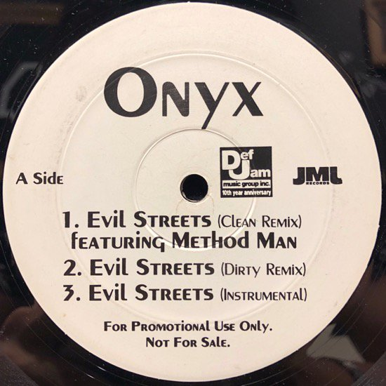 Onyx / Evil Streets (Remix) b/w Purse Snatchers Pt. 2