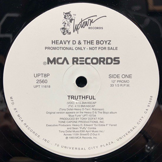 Heavy D. & The Boyz / Truthful b/w Blue Funk