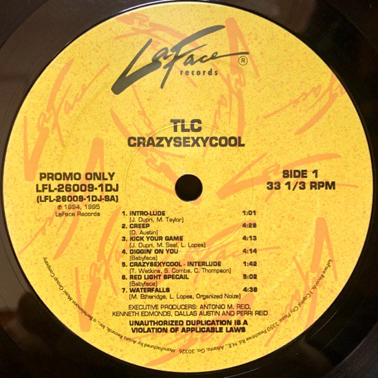 TLC / CRAZYSEXYCOOL (US PROMO ONLY RARE PRESSING)