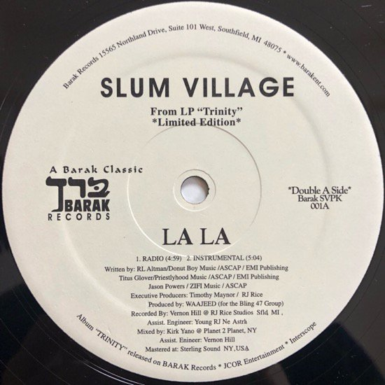 SLUM VILLAGE / LA LA / PHAT KAT / CLUB BANGER (LIMITED EDITION)