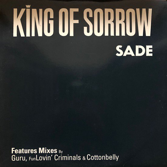 <img class='new_mark_img1' src='//img.shop-pro.jp/img/new/icons1.gif' style='border:none;display:inline;margin:0px;padding:0px;width:auto;' />SADE / KING OF SORROW (US PROMO ONLY)