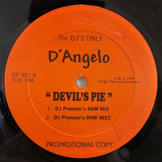 D'ANGELO / DEVIL'S PIE ( 45KING REMIX )
