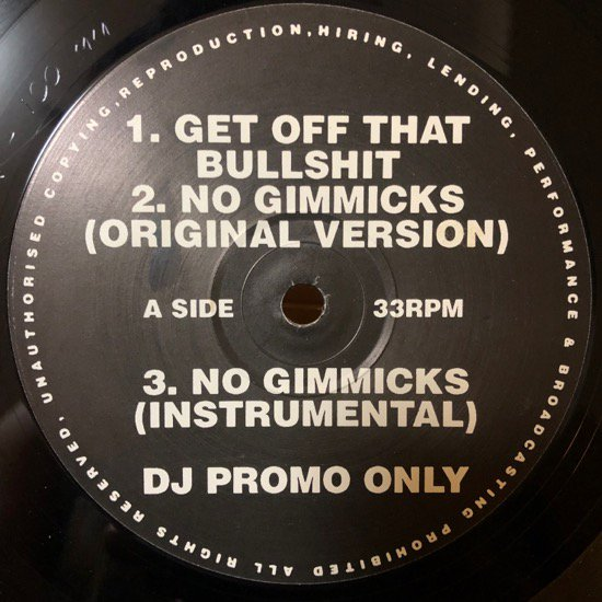 LARGE PROFESSOR / GET OFF THAT BULLSHIT / LORD FINESSE / NO GIMMICKS / SHOW & AG / YOU KNOW NOW