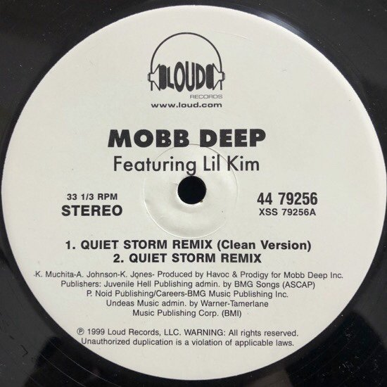 MOBB DEEP / QUIET STORM (REMIX) b/w IT'S MINE ( US Promo Only )