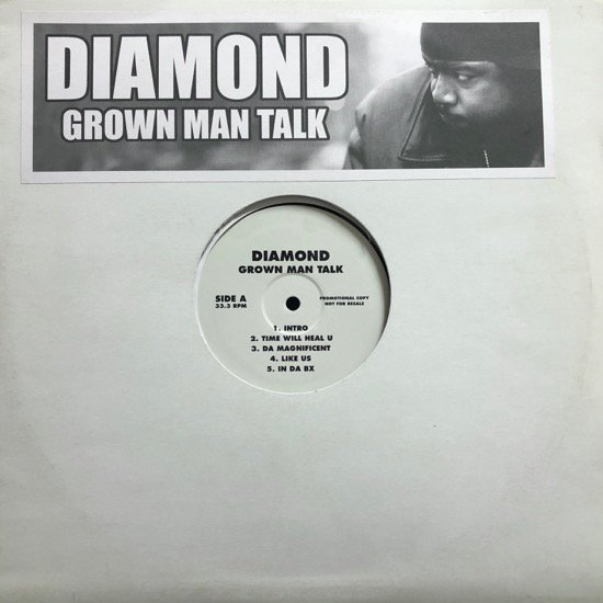 DIAMOND / GROWN MAN TALK ( Rare Pressing LP )
