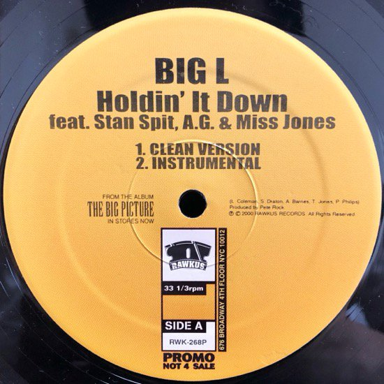 BIG L / HOLDIN' IT DOWN (US PROMO ONLY)