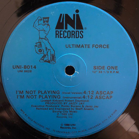 ULTIMATE FORCE / I'M NOT PLAYING ( 89 US ORIGINAL )