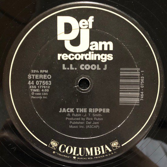 L.L. COOL J / GOING BACK TO CALI b/w JACK THE RIPPER