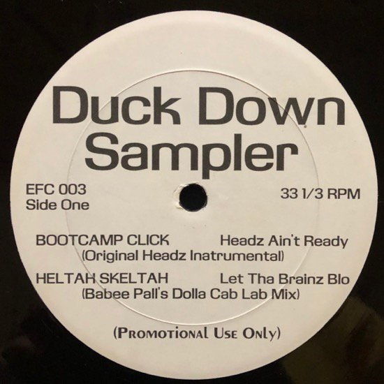 BOOT CAMP CLICK , HELTAH SKELTAH / DUCK DOWN SAMPLER (PROMO)