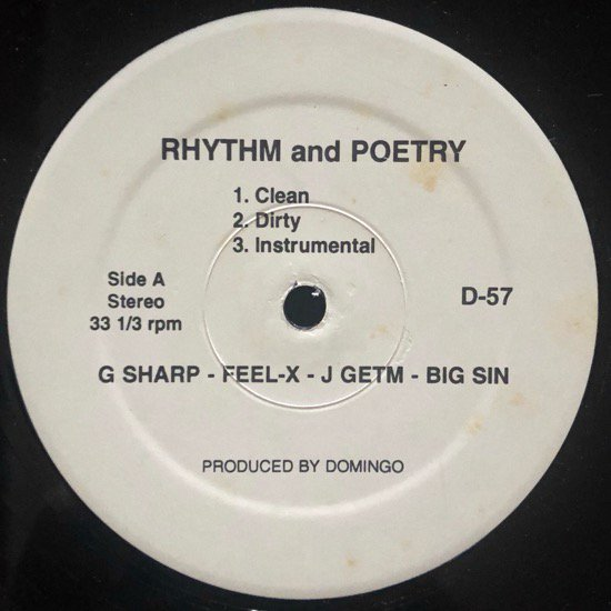 G Sharp, Feel X, J Getm & Big Sin / Feel X & Channel Live / RHYTHM AND POETRY / LAST MINUTE CLEANUP