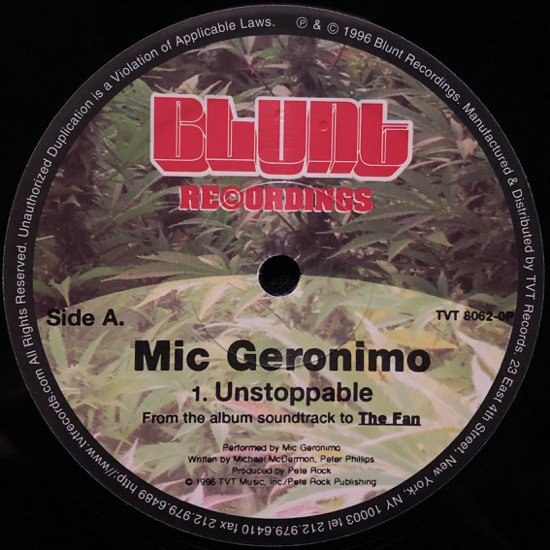 MIC GERONIMO / UNSTOPPABLE ( US PROMO ONLY )