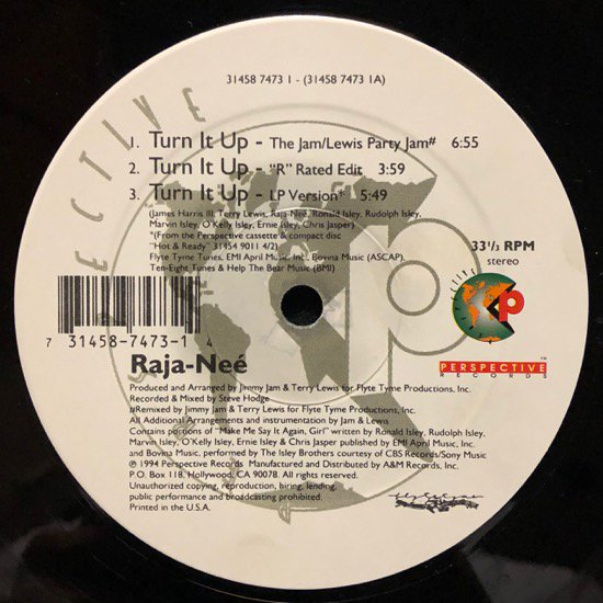 RAJA-NEÉ / TURN IT UP ( US Original )