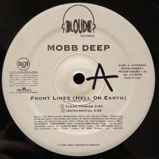 MOBB DEEP / FRONT LINES (HELL ON EARTH) (PROMO ONLY TAKE )