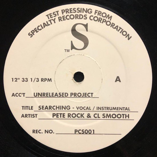 PETE ROCK & CL SMOOTH / SEARCHING / SPECIALIZED