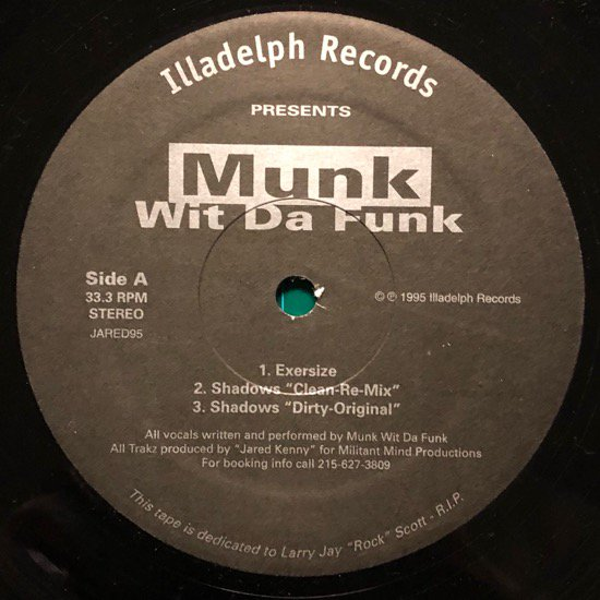 MUNK WIT DA FUNK / EXERSIZE / SHADOWS