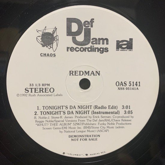 REDMAN / TONIGHT'S DA NIGHT (PROMO)