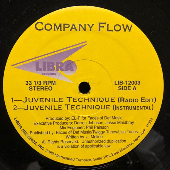 COMPANY FLOW / JUVENILE TECHNIQUE (94 US Original )