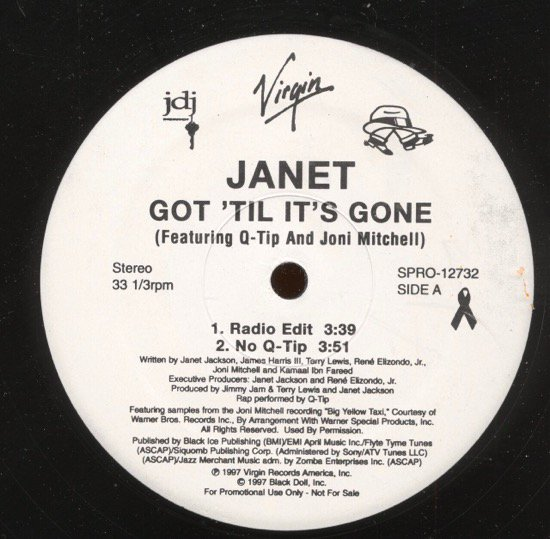 JANET FEATURING Q-TIP AND JONI MITCHELL / GOT 'TIL IT'S GONE (PROMO)