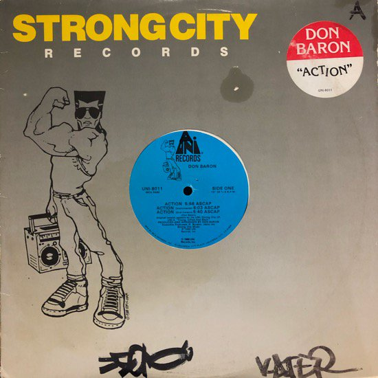 DON BARON / ACTION b/w YOUNG GIFTED AND BLACK ( 88 US Original )