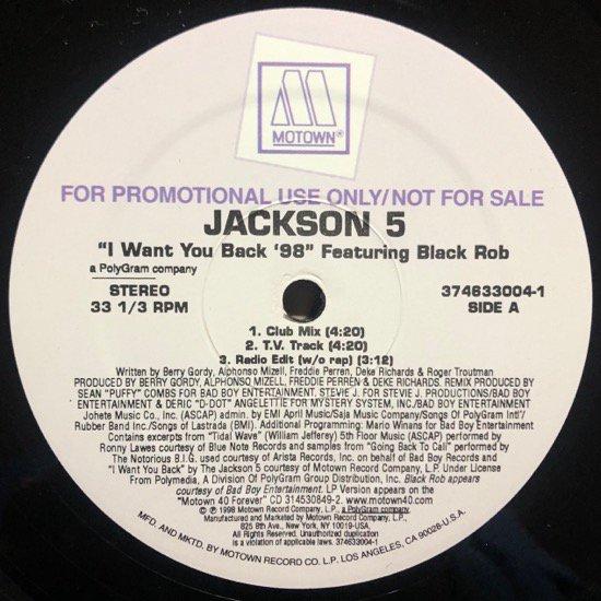 JACKSON 5 FEATURING BLACK ROB / I WANT YOU BACK '98 (PROMO)