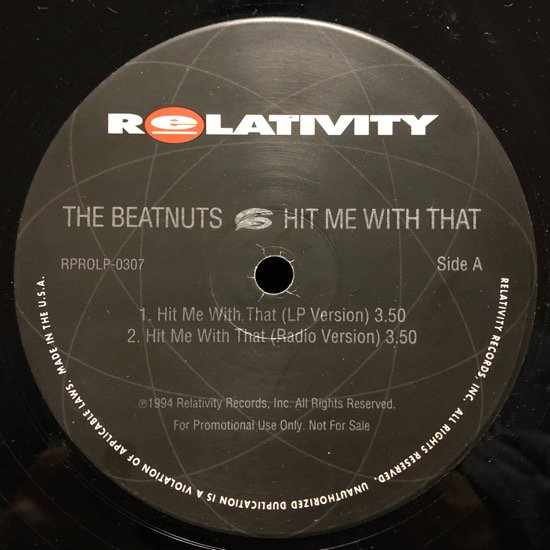 THE BEATNUTS / HIT ME WITH THAT (PROMO)